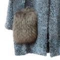 Chaquetón de astrakán con marmota azul