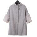 Abrigo corto de cashmere con mangas de visón