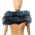 Cuello-estola de zorro argente